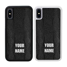 "Load image into Gallery viewer, Reptile Personalised Phone Case for Apple iPhone Xs MAX Custom Cover Personal Your Name Bumper 6.5"" Screen"