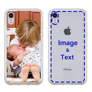 MXCUSTOM Custom Apple iPhone X iPhone Xs iPhone 10 Case, Customized Personalized with Photo Image Text Picture Design Make Your Own Phone Cases Covers [Clear Soft TPU Bumper+Hard PC Back] (CHT-CR-P1)