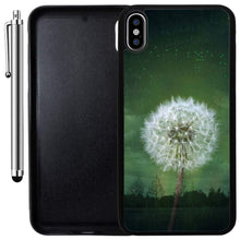 Load image into Gallery viewer, Custom Case Compatible with iPhone Xs MAX (6.5 inch) (Dandelion Forest Fantasy) Edge-to-Edge Rubber Black Cover Ultra Slim | Lightweight | Includes Stylus Pen by Innosub