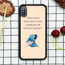 Load image into Gallery viewer, Lilo & Stitch Quote Art Case for iPhone X, iPhone Xs Comic TPU Silicone Gel Edge + PC Bumper Case Skin Protective Custom Designed Printed Phone Protector Full Protection Cover