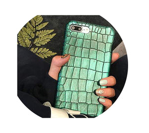 Green Sequins Crocodile Case for iPhone Xs Max Xr Xs X 7 8 Plus Case Leather Cover for iPhone 6S Plus iPhone Case for iPhone 7,Green 1,for iPhone Xs Max