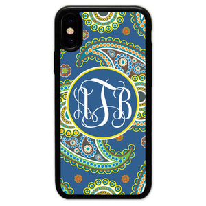 Custom-Made Paisley Monogrammed Phone Case for Apple iPhone Xs Max,Customized Personalized Gift