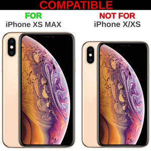 Custom Case Compatible with iPhone Xs MAX (6.5 inch) (Butterflies on Flowers) Plastic Black Cover Ultra Slim | Lightweight | Includes Stylus Pen by Innosub