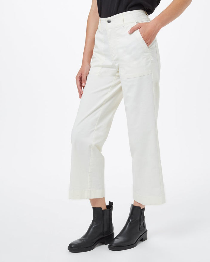 Image of product: Twill Cropped Wide Leg Pant