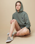 Image of product: W Peru Embroidered Llama Hoodie