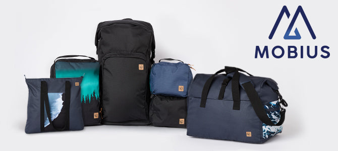 A line up of all tentree mobius products.