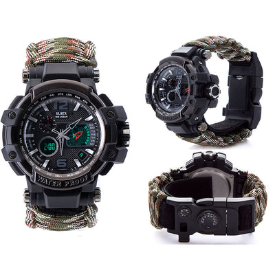 Outdoor Multifunctional Survival Waterproof Watch - ecocowild