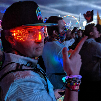 Seven Colors Adjustable Cyberpunk Electronic Lights Glasses - ecocowild