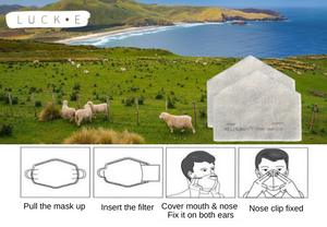 Mask Filters Packs ~Sustainably made in NZ (5-Pack)