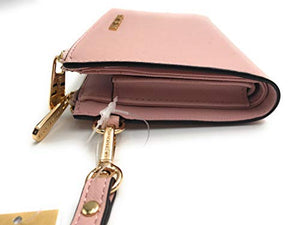 Michael Kors Jet Set Travel Double Zip Saffiano Leather Wristlet Wallet (Blossom) 35F8GTVW0L-656