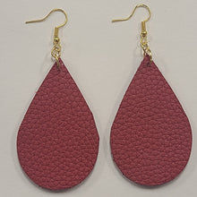 Load image into Gallery viewer, Raindrop Leather Earrings