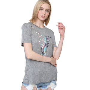 Bird Feather Graphic Tee