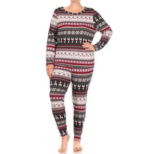 Plus Reindeer Pajama Set