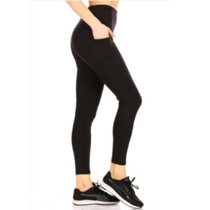 Solid Pocket Sports Leggings