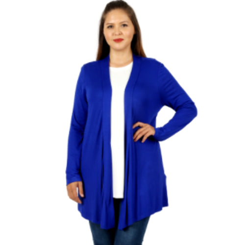 Plus Drapey Open-Front Cardigan