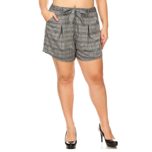 Curvy Checker Shorts