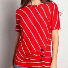 Load image into Gallery viewer, Boardroom Diagonal Striped Blouse