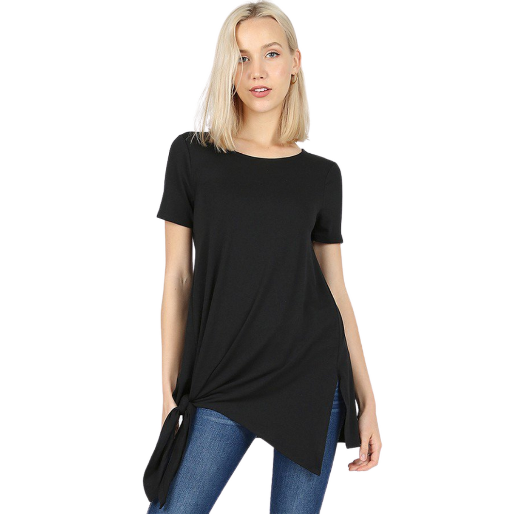 Asymmetrical Side Tie Top