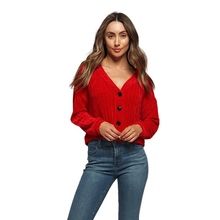Load image into Gallery viewer, Button Down Chenille Cardigan