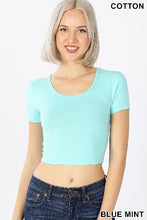 Load image into Gallery viewer, Short Sleeve Crop-Top