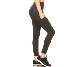 Load image into Gallery viewer, High Waisted Yoga Pants With Side Pockets