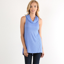 Load image into Gallery viewer, Sleeveless Cowl Neck Knit Top