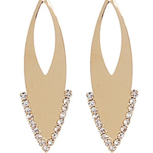 Embellished Metallic Dangle Earring