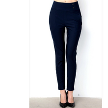 Load image into Gallery viewer, Solid Button Trim Pants
