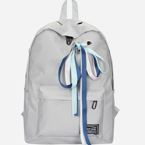 Eyelet Detail Ribbon Decor Backpack