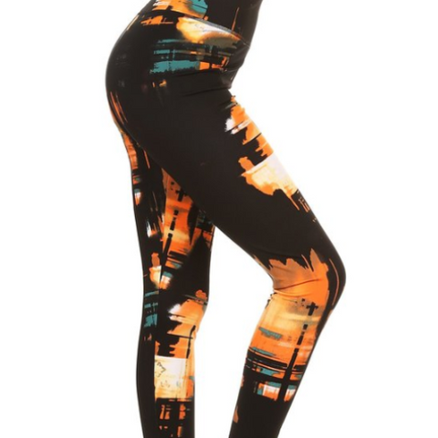 Starlight Paint Yoga Pants