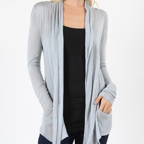 Hacci Long Sleeve Drape Cardigan