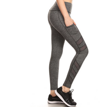 Load image into Gallery viewer, Yoga Pants Pockets Mesh Panels