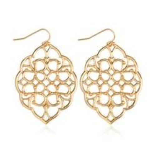 Hollow Design Metal Drop Earrings