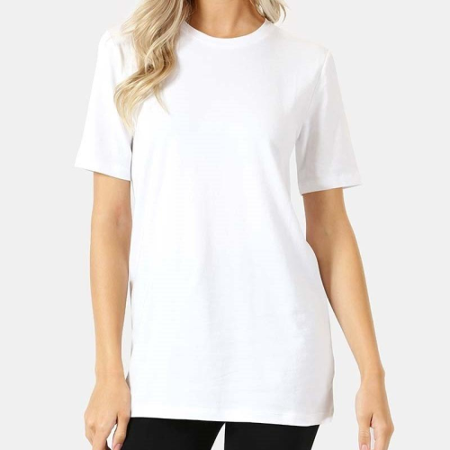 Cotton Crew Neck Short Sleeve Tee