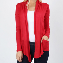 Load image into Gallery viewer, Hacci Long Sleeve Drape Cardigan