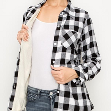 Load image into Gallery viewer, Sherpa Lined Plaid Flannel