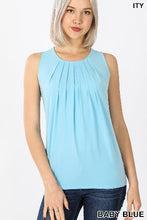 Load image into Gallery viewer, Sleeveless Front Neck Pleat Top