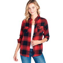 Load image into Gallery viewer, Plaid Flannel Long Sleeve Shirt