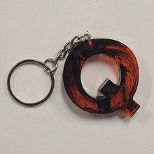 Load image into Gallery viewer, Inked Orange And Black Keychain