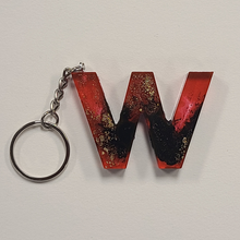 Load image into Gallery viewer, Orange and Gold Keychain