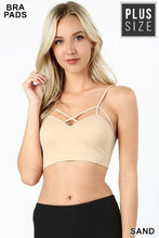 Load image into Gallery viewer, Plus Padded Seamless Criss-Cross Front Bralette