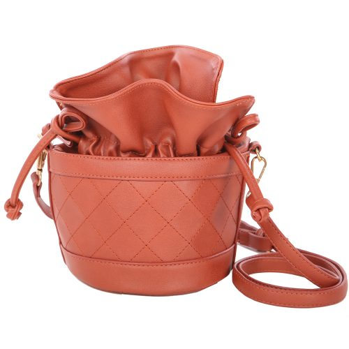 Structured Quilted Bucket Bag