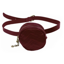 Load image into Gallery viewer, Soft Quilted Round Belt Bag