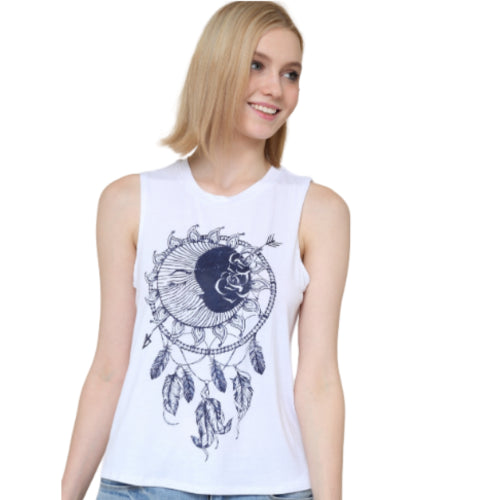 Moon Feather Graphic Tee