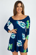 Load image into Gallery viewer, Stretch Knit Floral Printed Dress