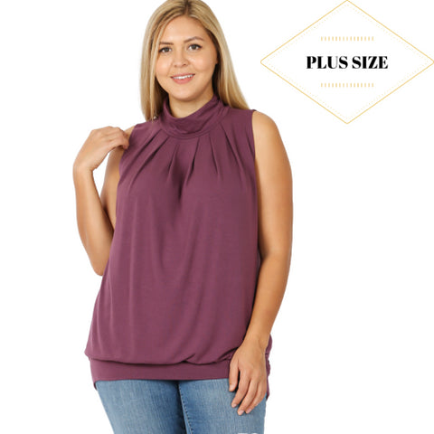 Plus Para Turtle Neck Blouse