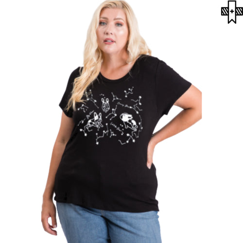 Plus Galaxy Dogo Graphic Tee