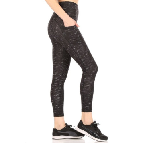 Space Dye Pocket Sports Leggings