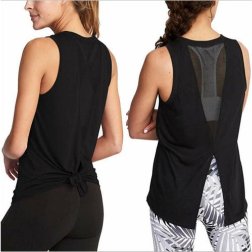 Mesh Open Back Activewear Tank