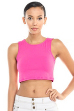 Load image into Gallery viewer, Stretch Knit Sleeveless Crop Top